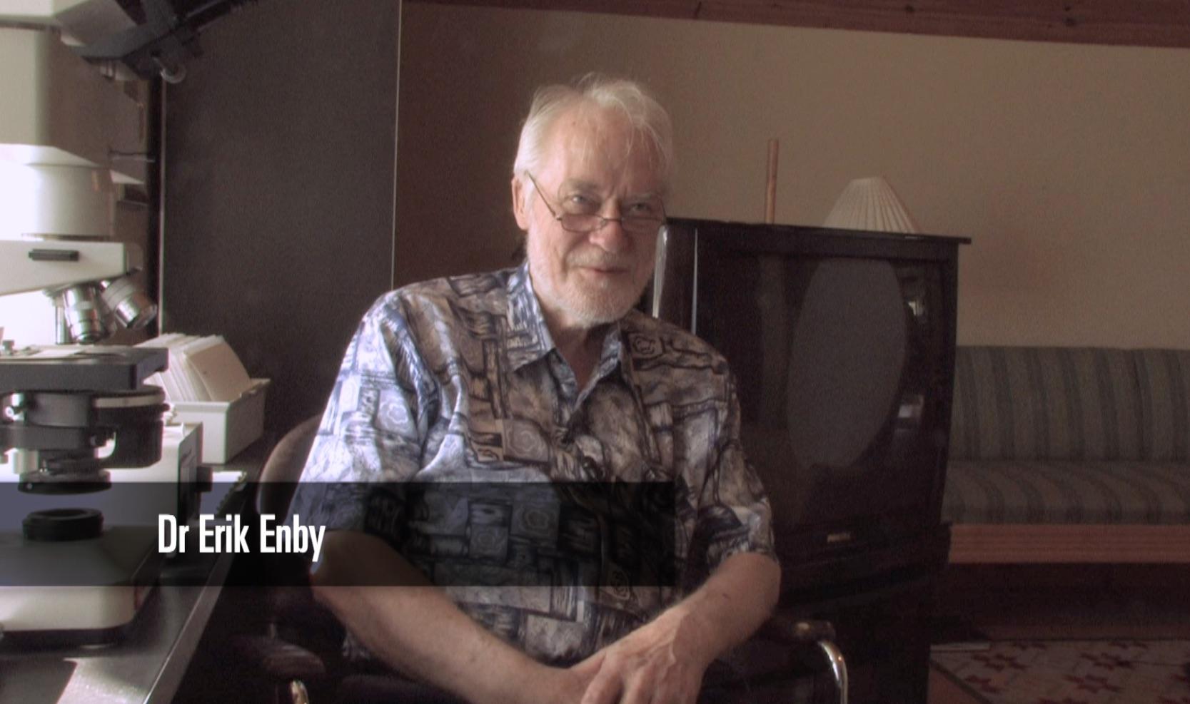 Dr Erik Enby inspelning för Läkaren som vägrade ge upp. Foto: Börje Peratt
