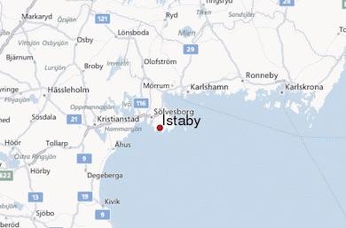 Istaby i södra Blekinge invid Hanöbukten (Östersjön)