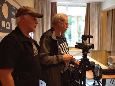Producent Börje Peratt och Filmfotograf Lars Af Sillén (Foto Anna Hallgren)