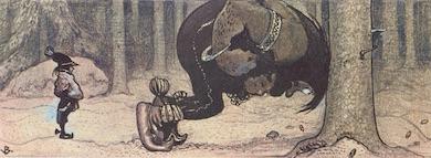 Stalo och Kauras. Målning av John Bauer (1882 -1918)