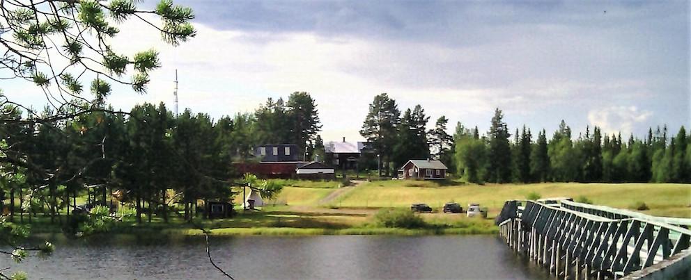 Lappudden (Nyluspen), där Vojmån flödade ut från Vojmsjön innan 1950. Foto: K. Wistrand