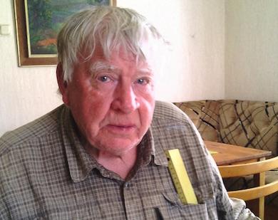 """Thord Wikström, en av initiativtagarna till """"Våjmåns vänner"""". Foto: K. Wistrand"""