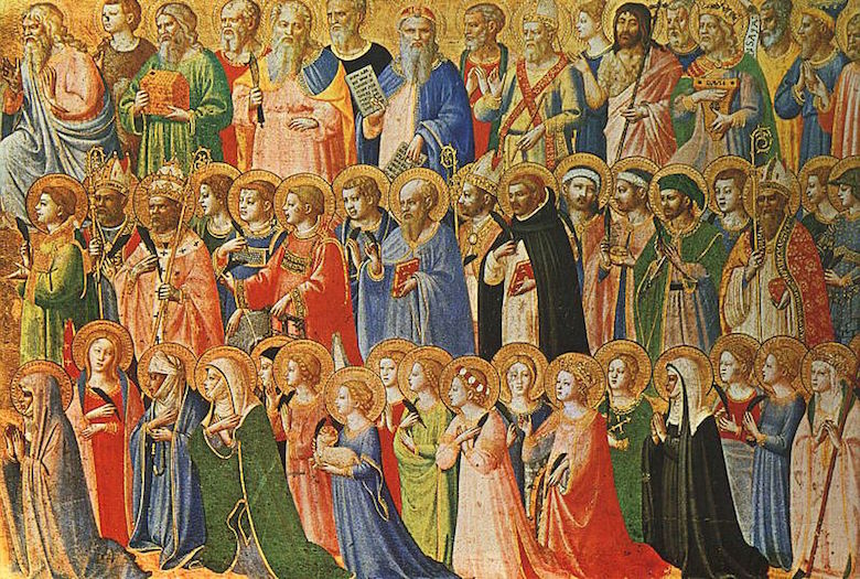 Föregångarna av Kristus med helgon och martyrer (ca 1423-1424) Tempera på trä, 31,9 x 63,5 cm National Gallery, London (Wikicommons)
