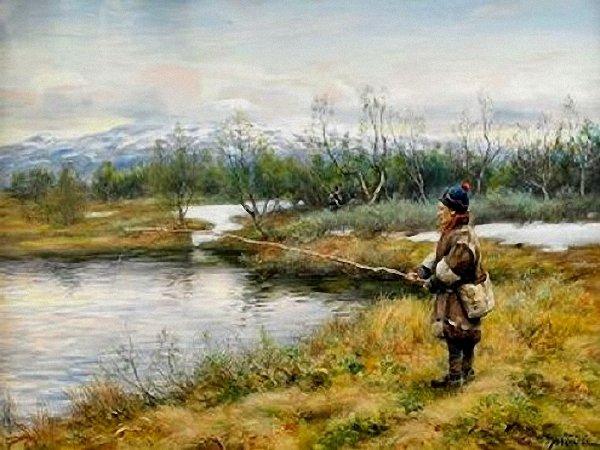 Fiske vid Snasahögarna, Johan Tyrén