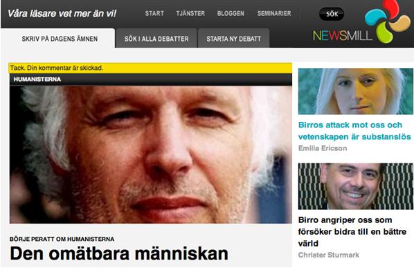 Den omätbara människan artikel av Börje Peratt i nedlagda nättidningen Newsmill