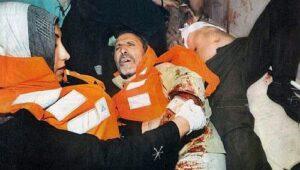 Aktivister dödas då Ship to Gaza attackeras av Israelisk militär på öppet vatten 31 maj 2010.