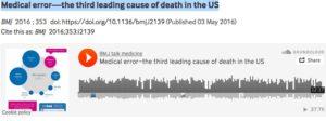 Dödsfall i amerikansk sjukvård beror ofta på felbehandling!