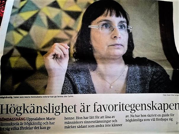"""""""Högkänslighet..."""" Artikel i UNT/Kulturen, Foto KW"""