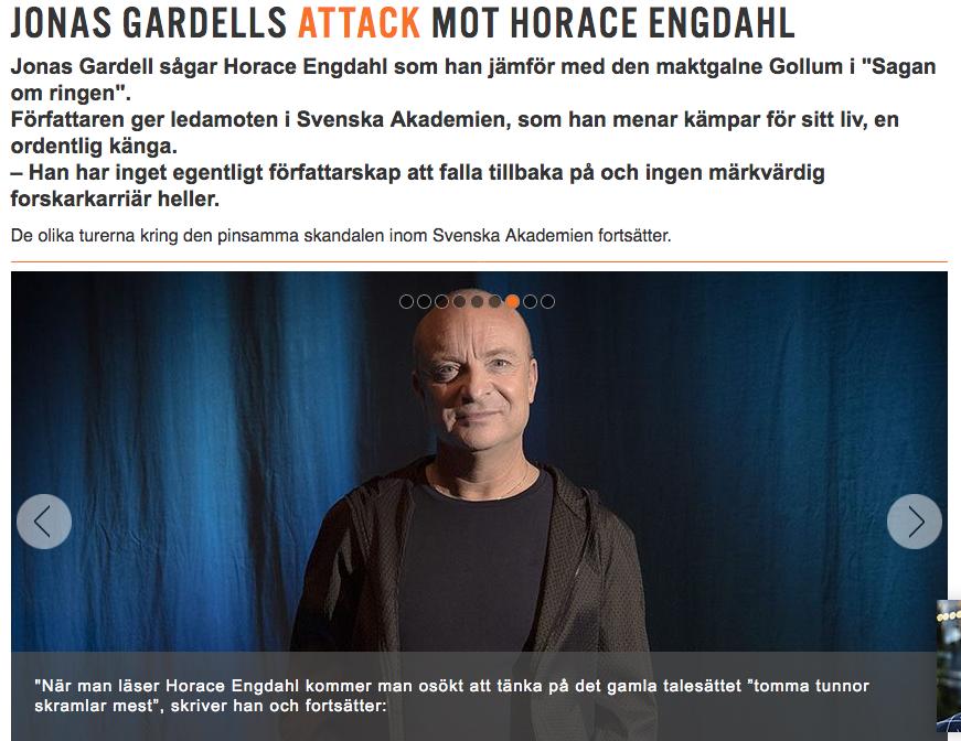 Jonas Gardell i nätmagasinet Stoppa Pressarna