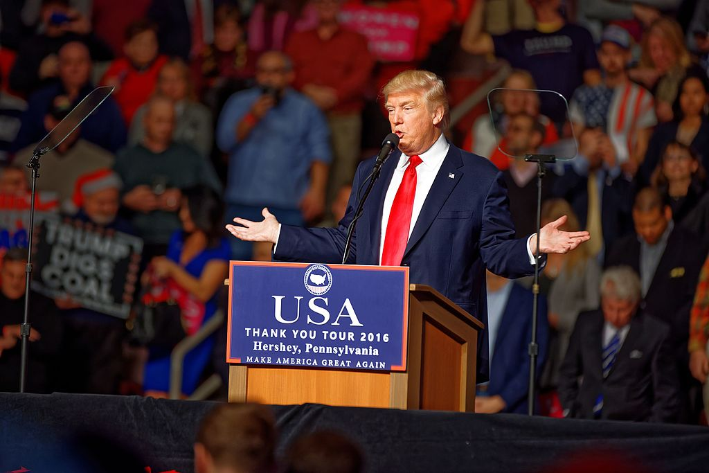 Michael Vadon, Donald Trump at Hershey PA on 12 15 2016 Victory Tour Wikimedia