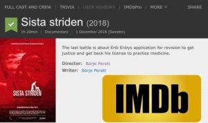 Uppdatering av dokumentären Sista Striden