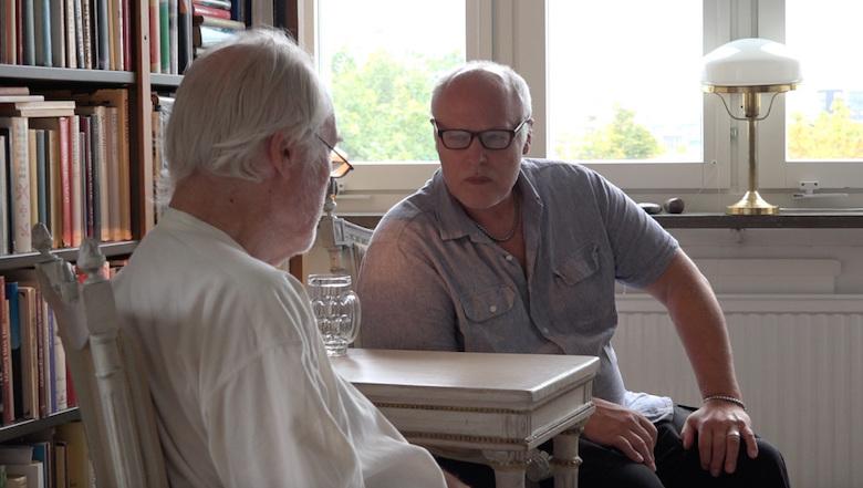 Börje Peratt intervjuar Dr Erik Enby. Foto Hans Welin