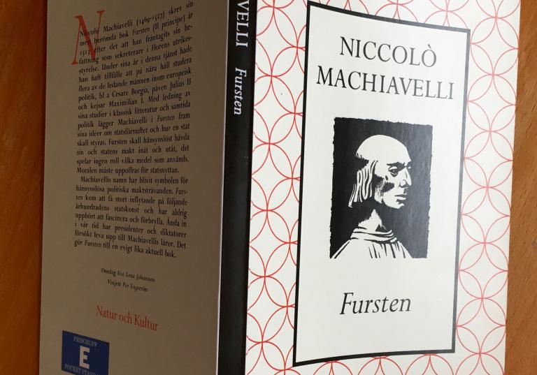 Fursten av Machiavell-bokomslag Foto Börje Peratt