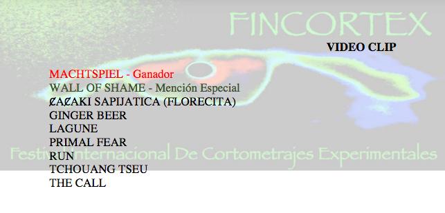 Fincortex web med annonsering av pristagare