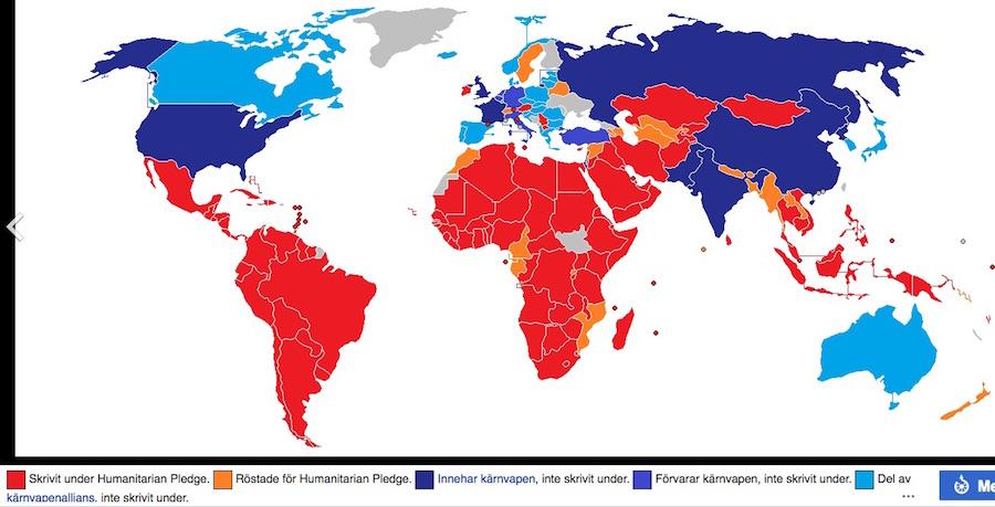 Karta Den Stora Algvandringen.Varfor Ratificerar Inte Sverige Konventionen Som Forbjuder Karnvapen