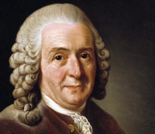 Carl von Linné av Alexander Roslin, 1775. Finns i Statens porträttsamling på Gripsholms slott.