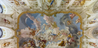 The Harmony between Religion and Science, a ceiling fresco of the Marble Hall at Seitenstetten Abbey (Lower Austria) by Paul Troger, 1735 Wikipedia