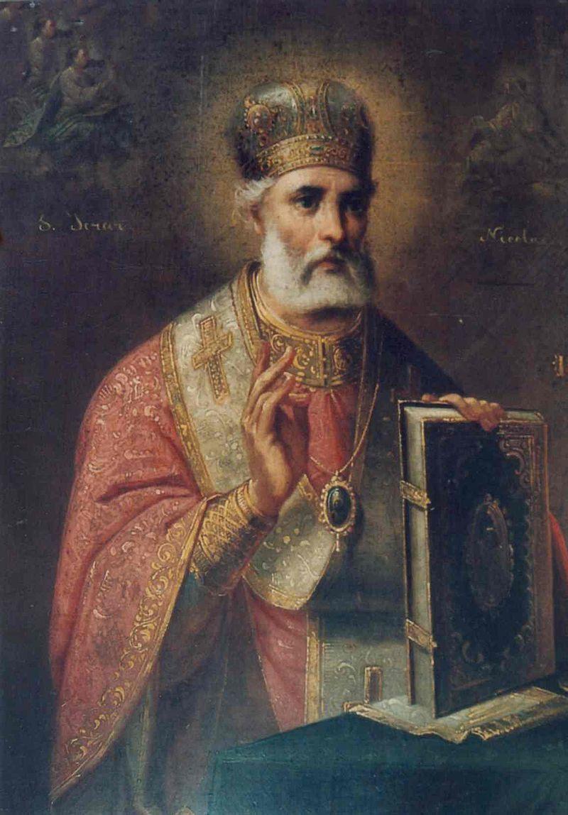 Sfântul Nicolae, Muzeul Municipiului Bucureşti, 39x29 cm, Public Domain