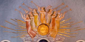 De sju änglarna, Swedenborgs Minneskyrka, Stockholm. Med tillåtelse av Fotograf: © Swedenborgskyrkan Thomas Floyd.