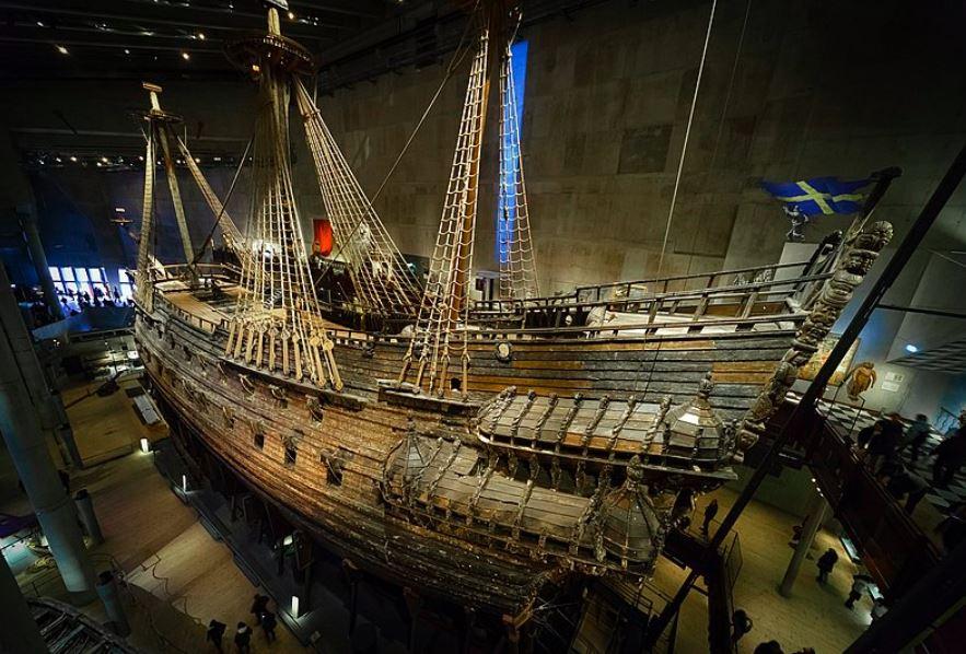 Vasaskeppet, byggdes av ek