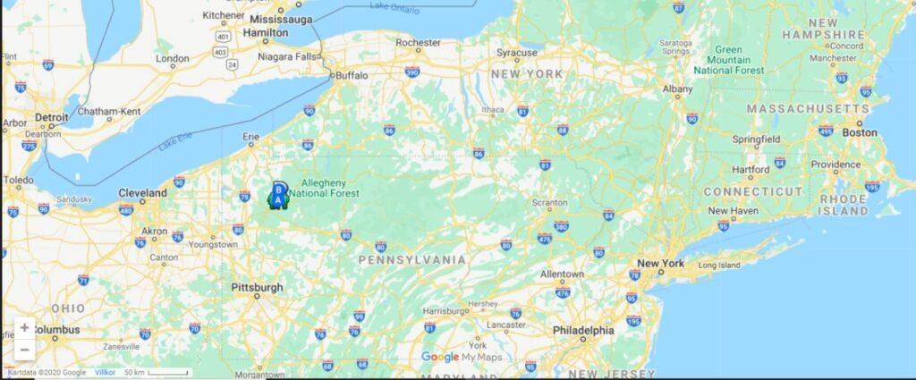 Pennsylvania karta