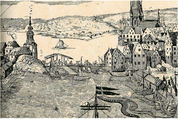 Slussen från 1642