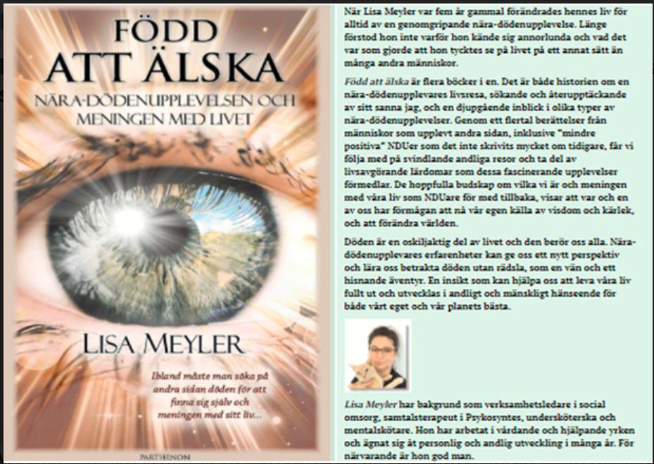 Lisa Meylers bok: Född att älska