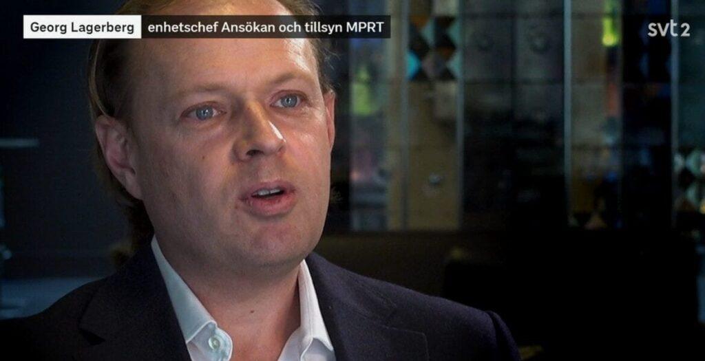 Georg Lagerberg (MPRT). Foto: SVT Play