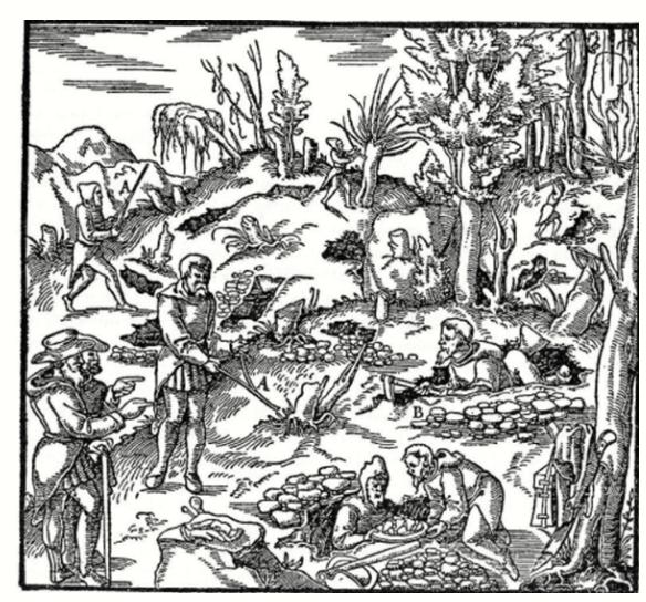 slagruta. teckning 1500-talet